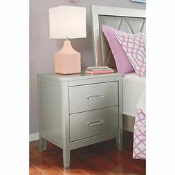 Signature Design by Ashley Olivet Silver Two Drawer Night St