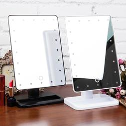 Portable 20 LED Desktop Touch Screen Makeup Cosmetic <font><