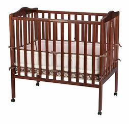 Delta Children Folding Portable Crib with Mattress