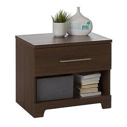 South Shore Primo 1-Drawer Nightstand, Brown Walnut New