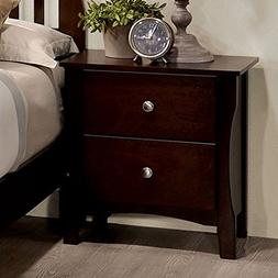 riggins contemporary night stand brown