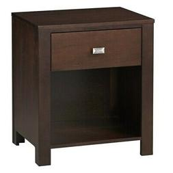 Modus Furniture Riva One Drawer Nightstand in Chocolate Brow