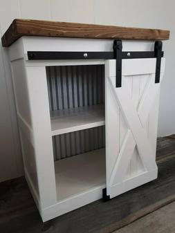 Rustic Farmhouse Industrial End Table Night Stand County Bar