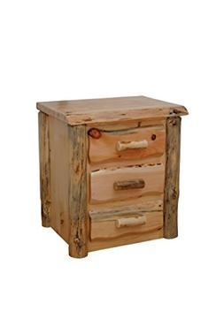 Rustic Pine Natural Live Edge Slab Nightstand/End Table - 3