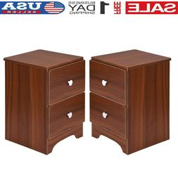 set of 2 finish nightstand bedside table