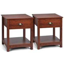 Set of 2 Night Stand Bedside Sofa End Table Side Table Accen