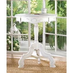 SHABBY CHIC WHITE WOOD END,SIDE TABLE,NIGHT STAND,KIDS FURNI