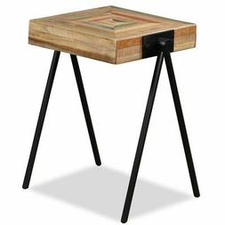 vidaXL Side Table Solid Reclaimed Teak Home Entryway Hall Di