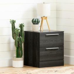 Step One Essential 2-Drawer Nightstand -Gray Oak-South Shore