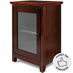 Stony-Edge Espresso Night Stand – Easiest Assembly, No Too