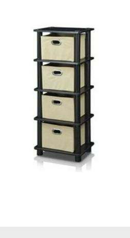 Storage Organizer Cabinet Closet with 4 Drawers Shelfs For C