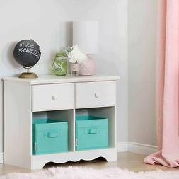South Shore Summer Breeze 2-Drawer Double Nightstand, White