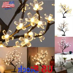 Table Stand Night Light LED Flower Tree Lamp Home Wedding Pa