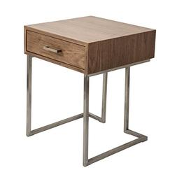 WOYBR TBE-RMN WL+SS Wood, Stainless Steel Roman End Table/Ni