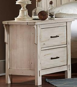 HEFX Thomasville Weathered White Nightstand