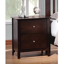 Tia Nightstand w 2 Drawers