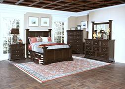 New Classic 00-007-15C Timber City 5-Piece Bedroom Set with