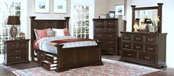 New Classic 00-007-25N Timber City 5-Piece Bedroom Set with