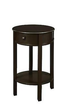 Ameriwood Home Tipton Round Accent Table, Espresso