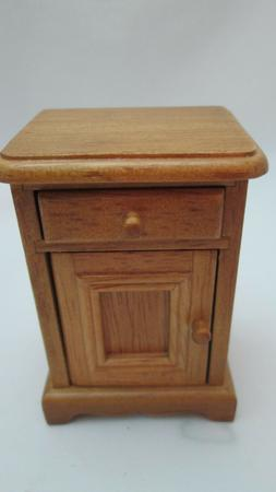 Town Square Dollhouse Miniature Oak  Night Stand or End Tabl