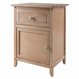 Winsome Wood Transitional Natural Composite Wood Night Stand