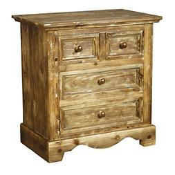 New Pacific Direct Tuscany Night Stand with 4 Drawers,Fully