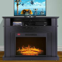 """TV Stand Media Fireplace 50"""" Electric Heater Entertainment S"""