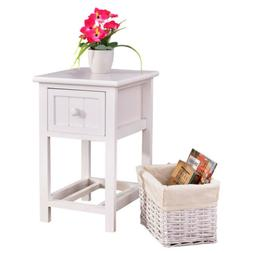US Night Stand 2 Layer 1 Drawers Bedside End Table Organizer