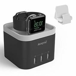 Simpeak 4 Port USB Charger Station for Apple Watch, with Pho