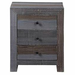 Progressive Utah Nightstand Grey 3-drawer