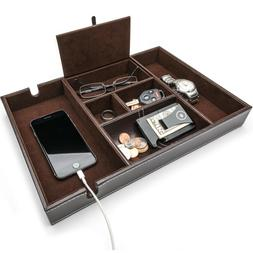 Valet Tray, Nightstand Organizer, Catch All Tray, Dresser Or
