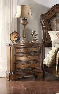 ACME Valletta Latte Oak Nightstand