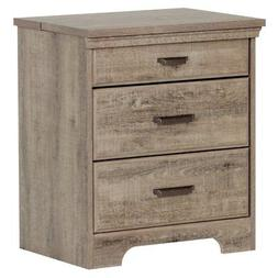 South Shore Versa Nightstand with Charging Station and Drawe