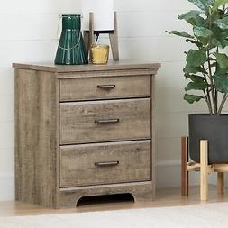 South Shore  Versa Nightstand With Charging Station And Draw