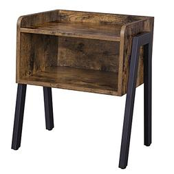 SONGMICS Vintage Nightstand, Stackable End Table, Cabinet fo