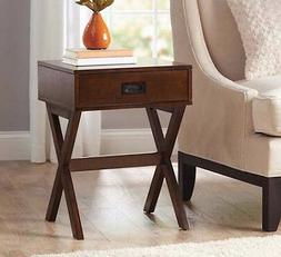 Walnut Contemporary Accent Table Side End Sofa Modern Living