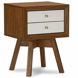 Baxton Studio Warwick Two-Tone Modern Accent Table and Night