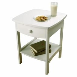 White Curved Night Stand