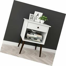 white espresso nightstand side table