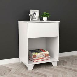 white finish nightstand side end table
