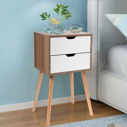 White Nightstand Bedside Table Sofa End Table Bedroom Night