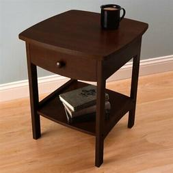 Winsome Wood 20218 - Curved End Table/Night Stand - 94918, W