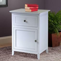Winsome Wood Night Stand Accent Table with Drawer & Cabinet