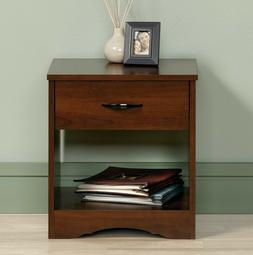 Classic Nightstand End Table w/ Drawer Lower Shelf Bedside D