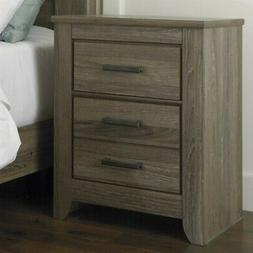 Zelen Rustic Two Drawer Night Stand by Ashley